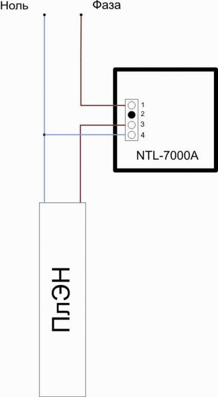 Схема подключения терморегулятора NTL-7000A