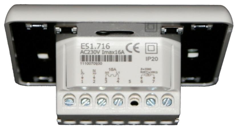 Терморегулятор E51.716 (вид сзади)