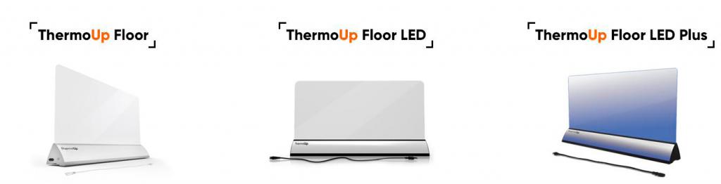 Напольные ИК обогреватели ThermoUp со стеклянной панелью
